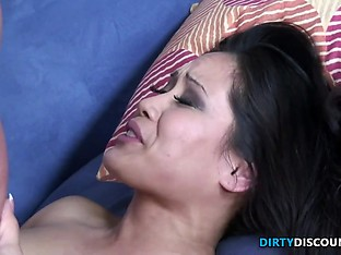 Asian in stockings fucked