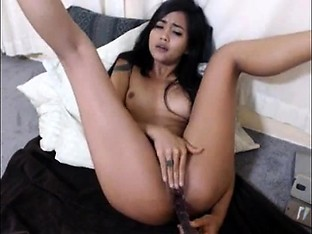 hot asian MILF playing with her toys on cam